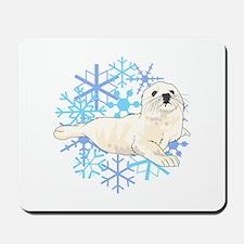 HARP SEAL SNOWFLAKES Mousepad