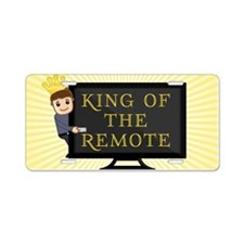 King of the Remote Aluminum License Plate