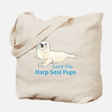 SAVE THE HARP SEAL PUPS Tote Bag