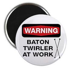 """WARNING Baton Twirler 2.25"""" Magnet (10 pack)"""