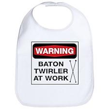 WARNING Baton Twirler Bib