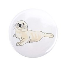 "HARP SEAL PUP 3.5"" Button (100 pack)"
