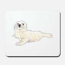 HARP SEAL PUP Mousepad