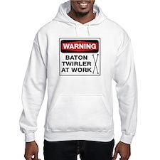 WARNING Baton Twirler Hoodie