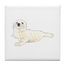 HARP SEAL PUP Tile Coaster