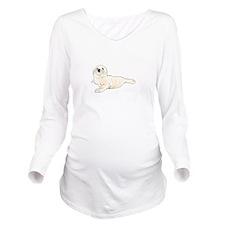 HARP SEAL PUP Long Sleeve Maternity T-Shirt