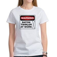 WARNING Baton Twirler Tee