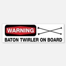 WARNING Baton Twirler Bumper Car Car Sticker