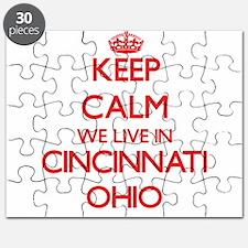 Keep calm we live in Cincinnati Ohio Puzzle