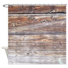wood plank Shower Curtain