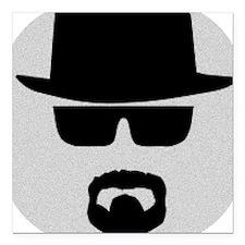 "White - Heisenberg Sillo Square Car Magnet 3"" x 3"""