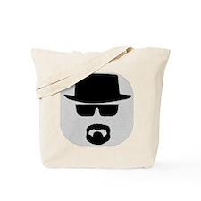 White - Heisenberg Sillouette Tote Bag