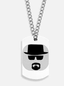 White - Heisenberg Sillouette Dog Tags