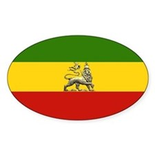 Rasta Lion Of Judah Ethiopian Oval Decal