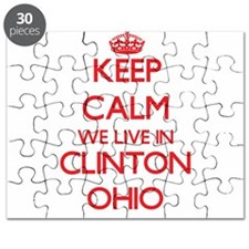 Keep calm we live in Clinton Ohio Puzzle
