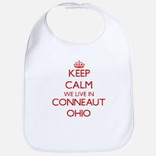Keep calm we live in Conneaut Ohio Bib