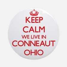 Keep calm we live in Conneaut Ohi Ornament (Round)