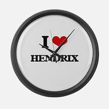 I Love Hendrix Large Wall Clock