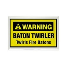 Twirls Fire Batons Rectangle Magnet