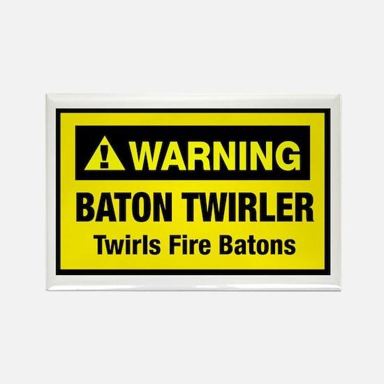 Twirls Fire Batons Rectangle Magnet