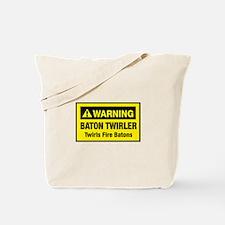 Twirls Fire Batons Tote Bag