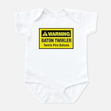 Twirls Fire Batons Infant Bodysuit