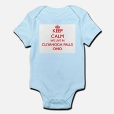 Keep calm we live in Cuyahoga Falls Ohio Body Suit