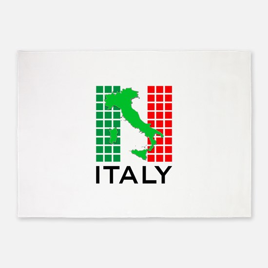 italy flag 03 5'x7'Area Rug