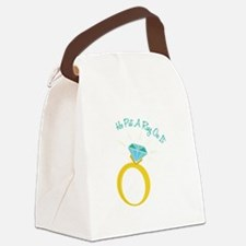 Put A Ring On It Canvas Lunch Bag
