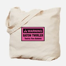 Fire Baton Twirler Tote Bag