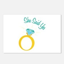 She Said Yes Postcards (Package of 8)