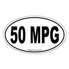 50 MPG Euro Decal