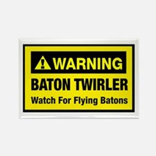 WARNING Baton Twirler Rectangle Magnet (10 pack)