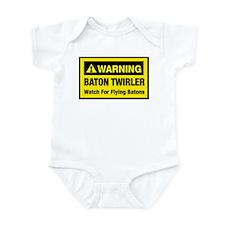 WARNING Baton Twirler Infant Bodysuit