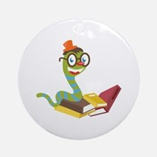 Bookworm Ornament (Round)