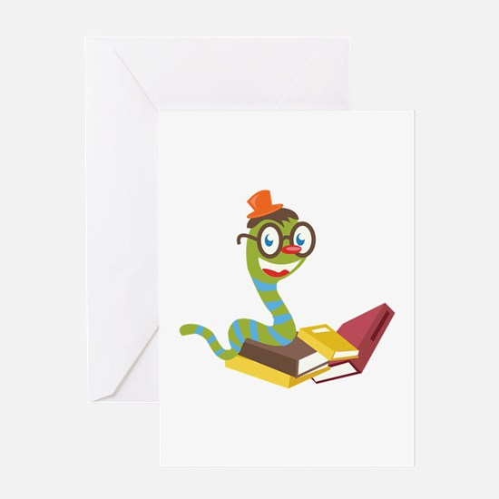 Bookworm Greeting Cards
