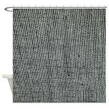 Contoured Burlap Shower Curtain