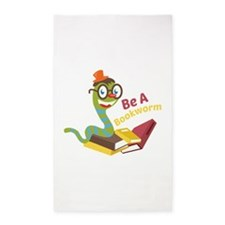 Be a bookworm Area Rug