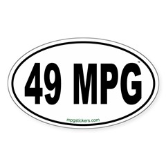 49 MPG Euro Decal