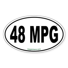 48 MPG Euro Decal