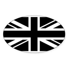 Black and White UK Flag Decal