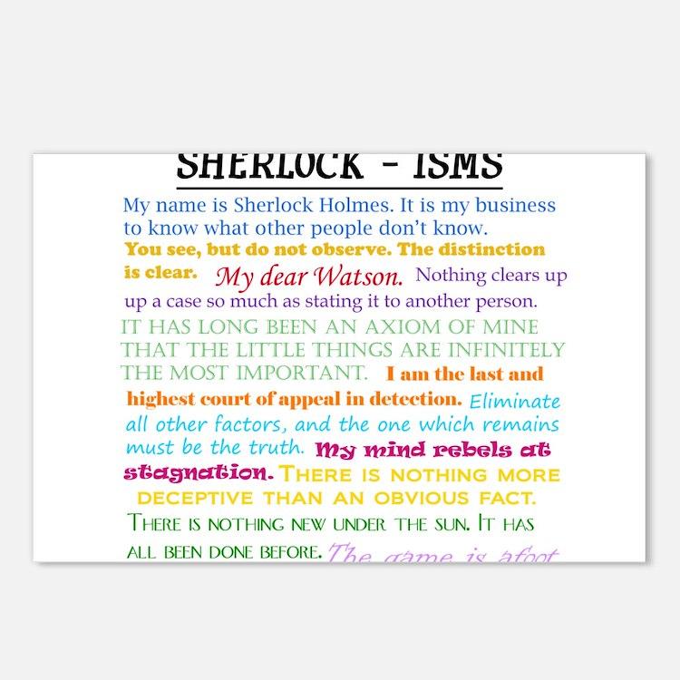 Sherlock-isms Postcards (Package of 8)