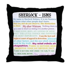 Sherlock-isms Throw Pillow