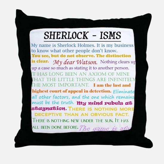 Sherlock-isms Throw Pillow