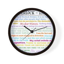 Sherlock-isms Wall Clock