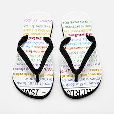 Sherlock-isms Flip Flops