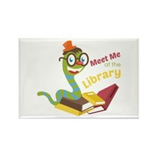 Meet me at the library Magnets