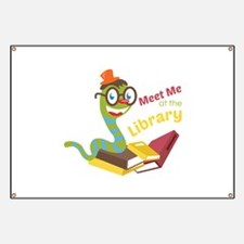Meet me at the library Banner