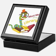 Meet me at the library Keepsake Box