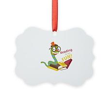 Reading is so fun Ornament